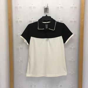 Izod Women's Ss Golf Polo Top Cream And Black